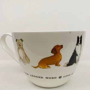 Dog lovers mug cup Love is a four-legged word